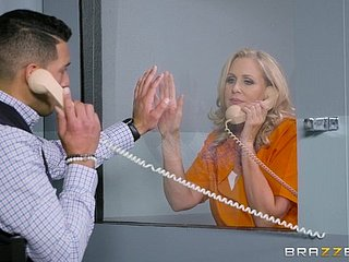Julia Ann is a mature tow-headed jailbird dream a big unearth