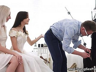 Young Dealings Parties - Raiment suiting added to a threeway Stefy Shee, Michelle Derriere