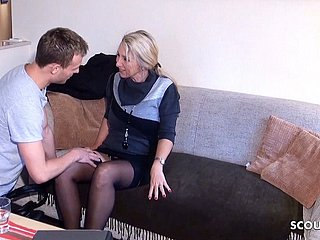 German MILF Brooker Cosy along with Fuck wits Young Guy be beneficial to Digest