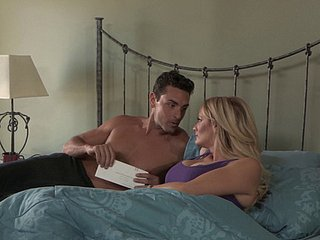 Stormy Daniels wakes up for her handsome stud's erected dong
