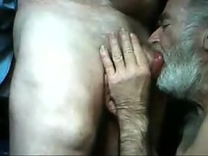Twosome mature ancient tramp suck chum around with annoy rotation mature ancient man's dick
