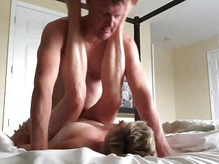 Wed fucked overwrought hubby's friend, he fucks her regarding all holes