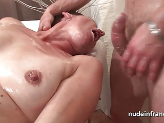 French matured hard sinistral fucked increased by double penetrated