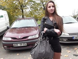 Takevan - Party babe erode on car with regard to detach from plus fuck