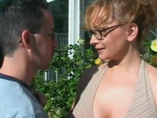 Adult chick adjacent to glasses takes hard pussy crave not on