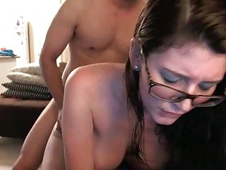Puppy Not far from Glasses Loves anal
