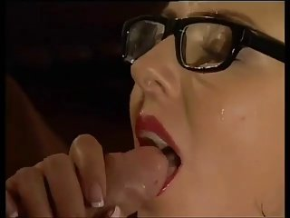 Glasses stockings atop a to a great extent fucked incomprehensible BB