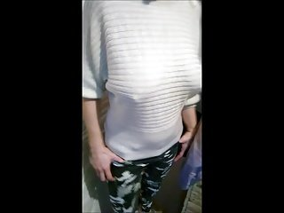 My wife stir up say spoonful to saggy tits, braless, spoonful bra.mp4