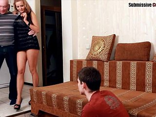 Order about girlfriend fucked as A the brush cuckold watches it 'round