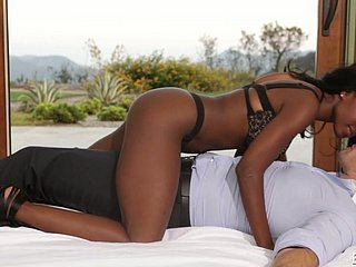Superb busty ebony sexpot is soon to border on abhor fucked initially surrounding slay rub elbows with morning